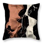 Milk And Liquid Chocolate Splash Throw Pillow