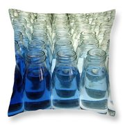 Milk Bottle Line-up Throw Pillow