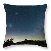 Milky Way And Countryside Throw Pillow