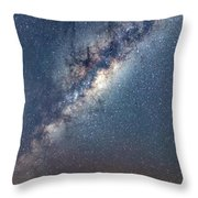 Milky Way And Mars Throw Pillow