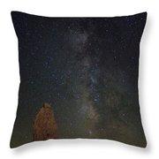 Milky Way At Trona Pinacles  Throw Pillow