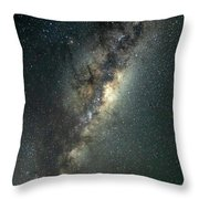 Milky Way With Mars Throw Pillow