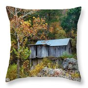 Mill In The Fall Throw Pillow