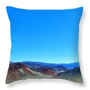 Mineral Mountains Throw Pillow