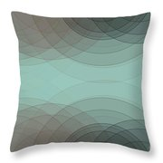 Mineral Semi Circle Background Horizontal Throw Pillow