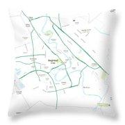 Minimalist Modern Map Of Baghdad, Iraq 5 Throw Pillow