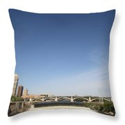 Minneapolis - Saint Anthony Falls Throw Pillow