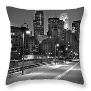 Minneapolis Skyline From Stone Arch Bridge Throw Pillow