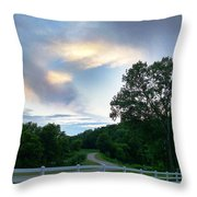 Minnesota Valley Sunset Throw Pillow