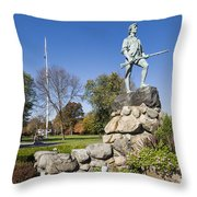 Minute Man Sculpture Throw Pillow