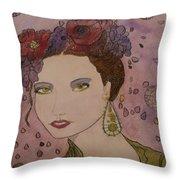 Miss Flore  Throw Pillow