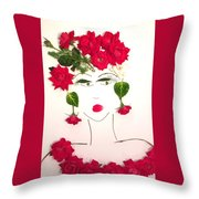 Ramblin' Rose Throw Pillow