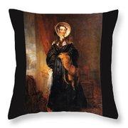 Miss Mary Kirkpatrick Brunton Throw Pillow