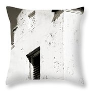 Mission Stucco Building Throw Pillow