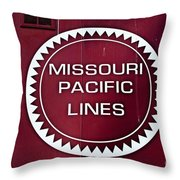 Missouri Pacific Lines Throw Pillow
