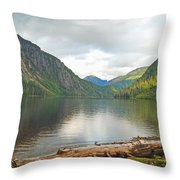 Misty Fjord Throw Pillow