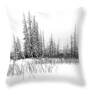 Misty Reeds Throw Pillow