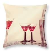 Mixing Cocktails Throw Pillow