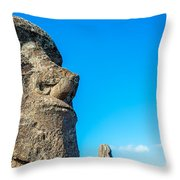 Moai Closeup Throw Pillow
