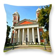 Mobile Cathedral Throw Pillow