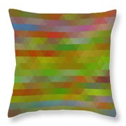 Modern Abstract Mosaic Color Combination 5 Throw Pillow