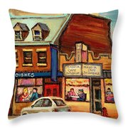 Moishes Steakhouse On The Main Throw Pillow