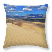 Mojave Kelso Dunes Landscape Throw Pillow
