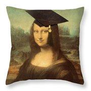 Mona Lisa  Graduation Day Throw Pillow