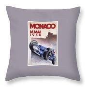 Monaco Grand Prix 1948 Throw Pillow