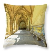 Monastery Of Santa Cruz Throw Pillow