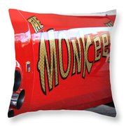 Monkeemobile Throw Pillow
