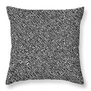 Monochromatic Abstract Throw Pillow