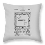 Monopoly Patent 1935 Throw Pillow