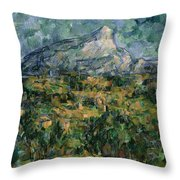 Mont Sainte Victoire Throw Pillow