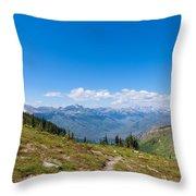 Montana-glacier National Park-highline Trail Throw Pillow