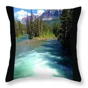 Montana River Throw Pillow