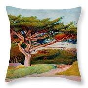Monterey Cypress Throw Pillow
