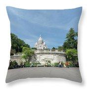 Montmarte Paris Sacre-coeur Throw Pillow