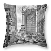 Monument Circle Throw Pillow