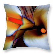 Moody Calla Lilies Throw Pillow