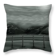 Moon Over The Beartooth Throw Pillow