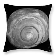 Moon Shell Throw Pillow