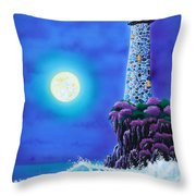 Moonlight Vigil Throw Pillow
