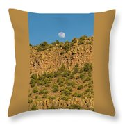 Moonrise Rio Grande Gorge Pilar New Mexico Throw Pillow