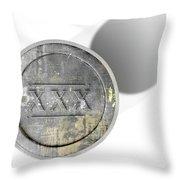 Moonshine Jar Vintage Throw Pillow