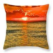 Moorea Sunset Throw Pillow