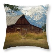 Mormon Row Barn Throw Pillow