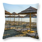 Morning Beach Throw Pillow