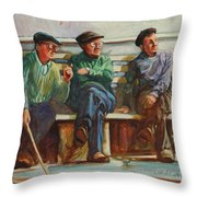 Morning Chat Throw Pillow
