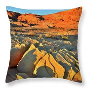 Morning Comes To Valley Of Fire Throw Pillow